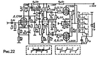 схемы ламповых усилителей мощности звуковой частоты - Микросхемы.