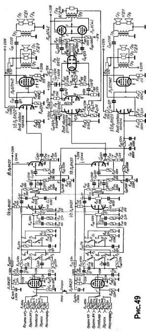 Схема лампового усилителя.