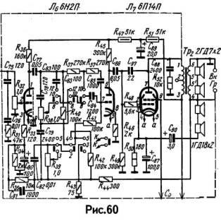 lampovye unch Ламповый УМЗЧ магнитолы Миния на 6Н2П, 6П14П (1,5Вт).